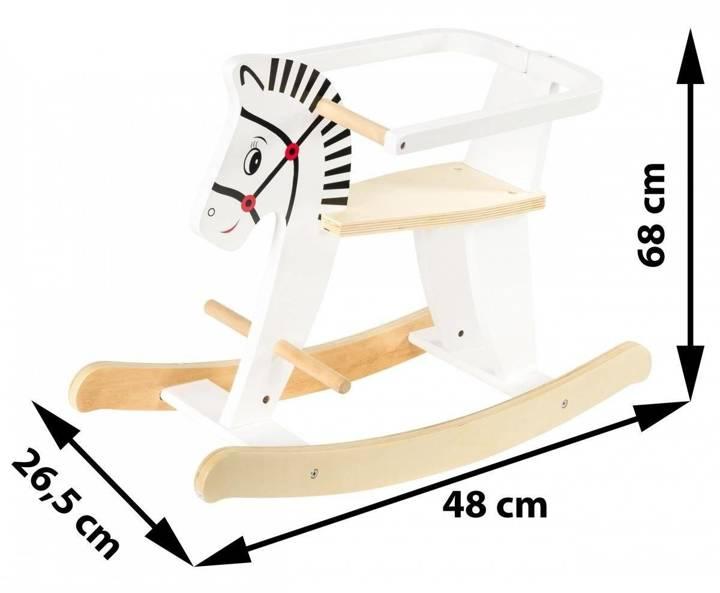 Drewniany konik na biegunach z barierkami K11