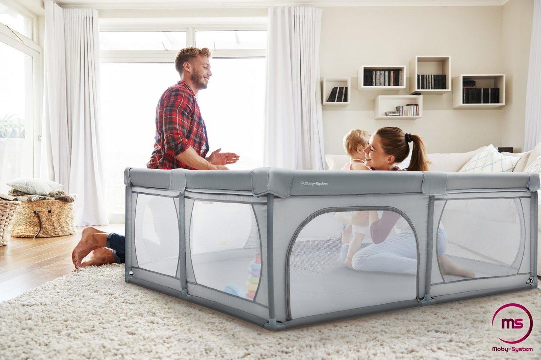Duży kojec 200 cm x 160 cm - plac zabaw dla dziecka, suchy basen