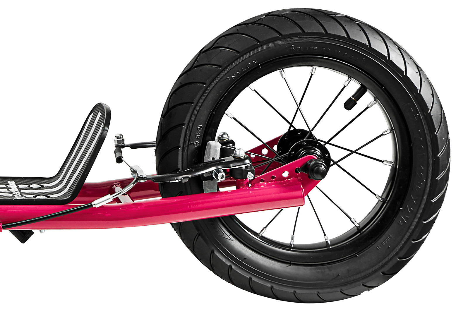 Hulajnoga HyperMotion RUBY 12 (pompowane koła 30 cm) - fuksja/magenta