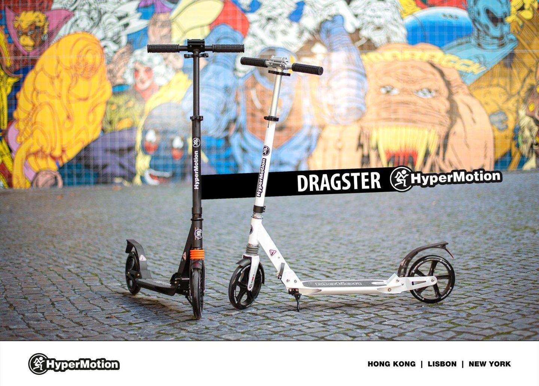 Hulajnoga miejska HyperMotion DRAGSTER Czarna