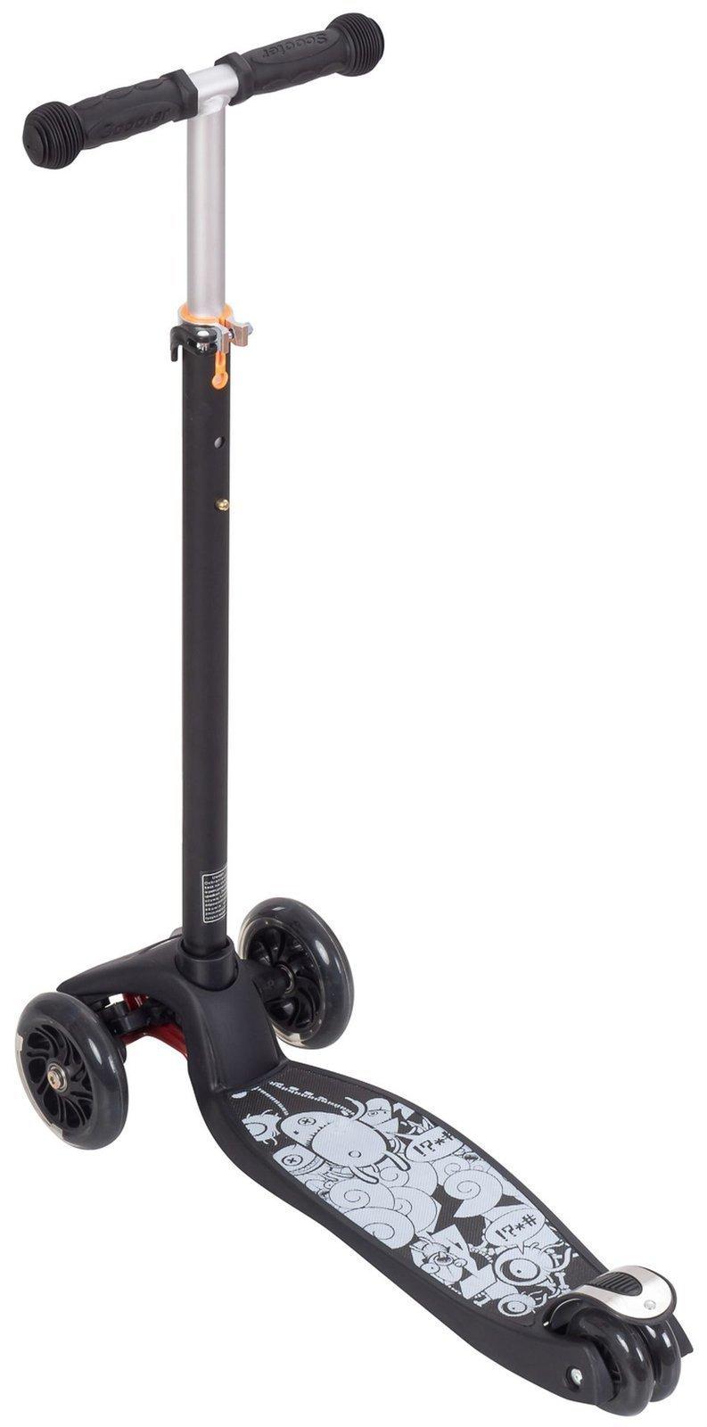 Hulajnoga trójkołowa balansowa ALAMO - Czarna + koła LED