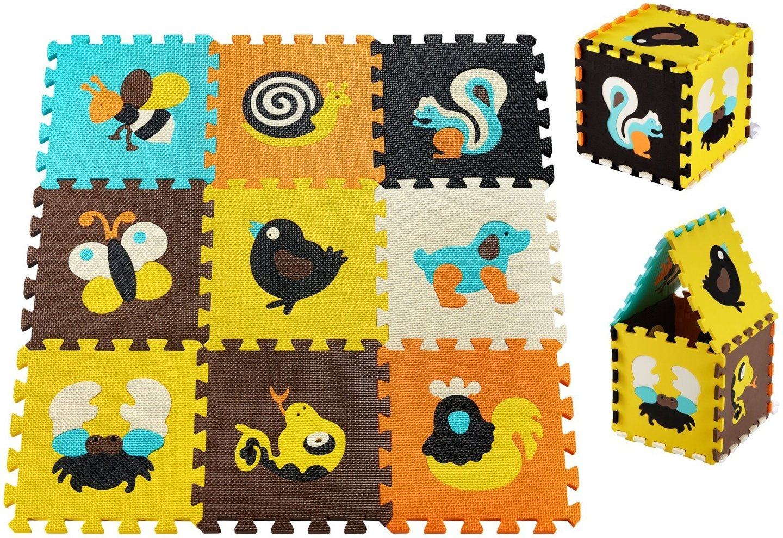 Mata edukacyjna piankowe puzzle 90 x 90 x 1cm - pianka EVA - wzór: zwierzątka