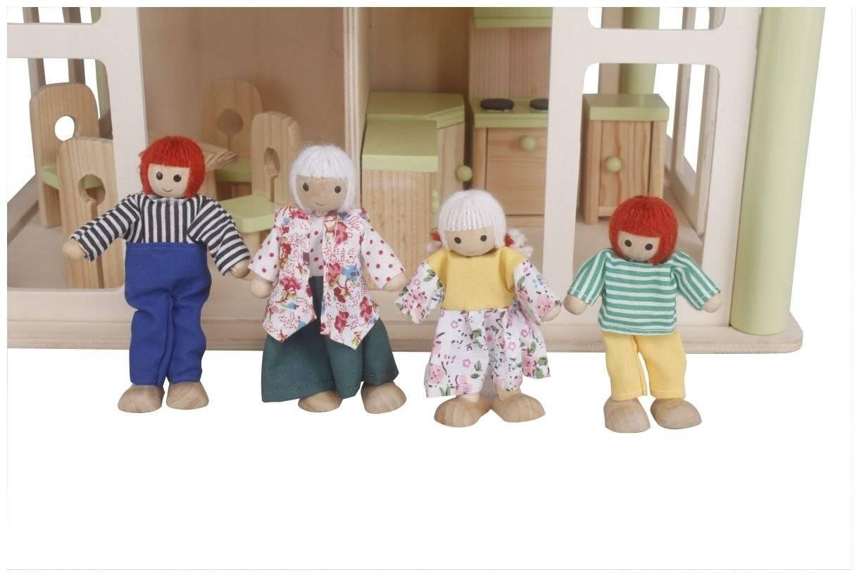 Otwartuś - przestrzenny domek z 4 lalkami i akcesoriami w zestawie!