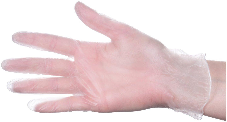 Rękawice winylowe ochronne - bezpudrowe - 1000 sztuk (10 x 100 szt.) - rozmiar M