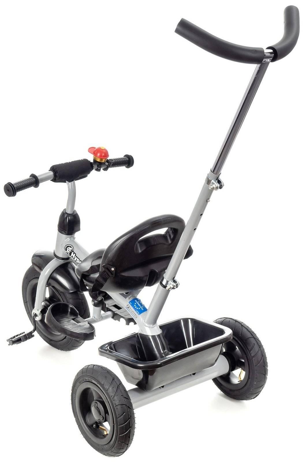 Rowerek Trójkołowy z pchaczem i pompowanymi kołami TOBI BASIC AIR - szary