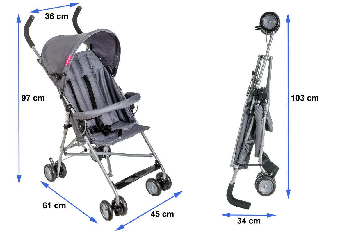 Wózek składany - spacerówka - typu parasolka